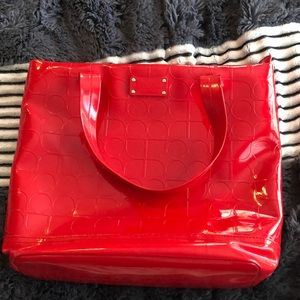 Kate Spade Shiny Red Leather Purse / Tote